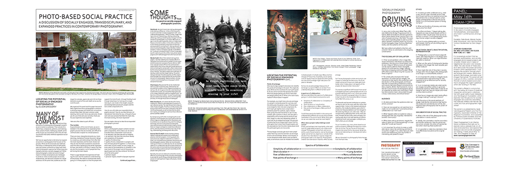 Photo-based Social Practice Broadsheet